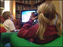 Image of children watching TV