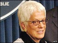 War crimes prosecutor Carla del Ponte