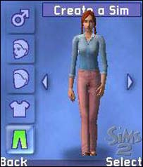 Screengrab of Sims 2 Mobile Ideaworks