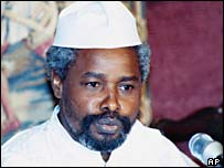 Chad's former President Hissene Habre (file photo, 1987)