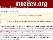 Mozdev website