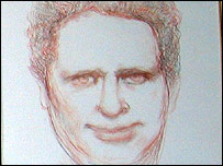 Dylan Thomas as captured by Andrew Vicari