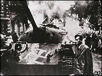 A Soviet tank in Prague in 1968