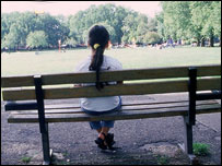 Child on a bench (generic)