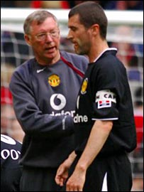 Sir Alex Ferguson and Roy Keane
