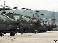 Apache helicopters in Germany