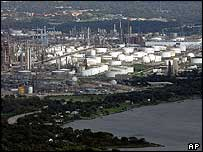 A refinery in Baytown, Texas
