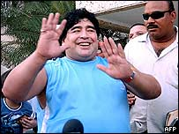 Diego Maradona in Colombia, 16 February 2005