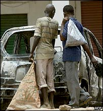 Aftermath of riots in Khartoum
