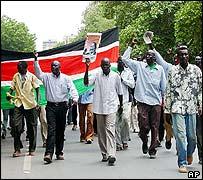 Marchers in Khartoum
