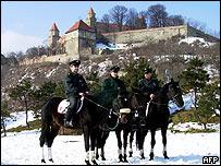 Mounted police/Bratislava castle