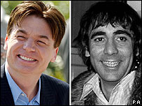 Mike Myers and Keith Moon