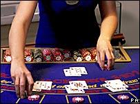 Casino card table