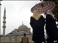 Women on Istanbul's Eminonu Square