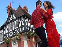Couple dancing on location in Shropshire