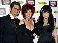 Jack Osbourne with mum Sharon and sister Kelly