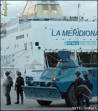 French troops secure Ajaccio harbour