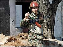 Syrian soldier in Bekaa Valley
