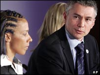 Jonathan Edwards and Dame Kelly Holmes