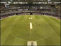 Inside the Telstra Dome