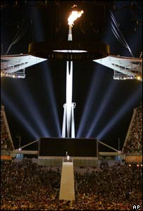 Olympic flame, Athens 2004