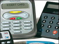 Card readers and one-time code generation devices