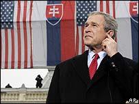 President Bush in Bratislava