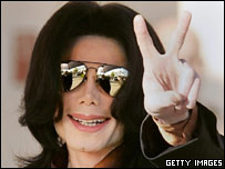 Michael Jackson at court in California