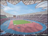 Artist's impression of the 2012 Olympic stadium