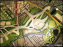 Plan of the Olympic Park