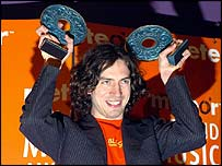 Snow Patrol singer Gary Lightbody at the Meteor Awards