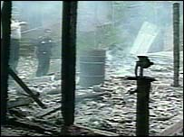 House destroyed during Ilamatepec's eruption