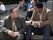 Kevin James and Will Smith in Hitch