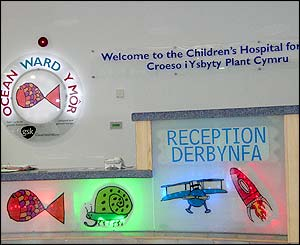 Children's Hospital for Wales reception