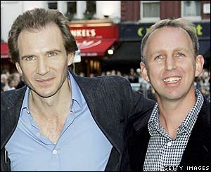 Ralph Fiennes (left) with co-director Steve Box