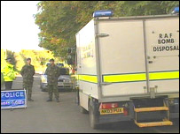 Bomb disposal team in Cambridgeshire