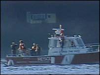 Rescue boat on Lake George, NY