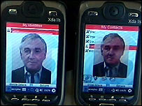 Updating a photo on a contact's mobile phone