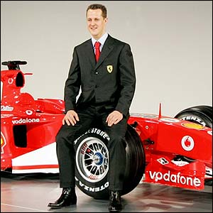Michael Schumacher with the F2005