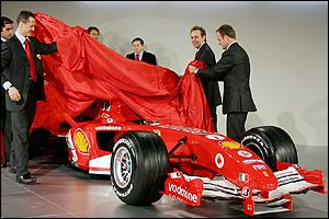 Michael Schumacher and Rubens Barrichello reveal the F2005