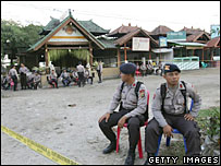 Security personnel in Kuta