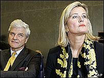 Ministra de Exteriores de Austria, Úrsula Plassnik.