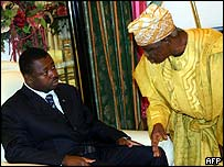 Faure Gnassingbe with Nigerian Foreign Minister Olu Adeniji