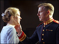 Claire Price and Samuel West in Much Ado About Nothing (credit: Catherine Ashmore)