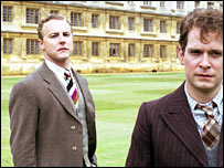 Samuel West (l) and Tom Hollander in Cambridge Spies