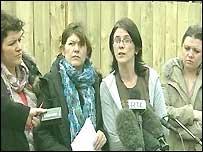 Robert McCartney's family speak in east Belfast