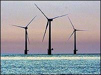 Wind farm off the Norfolk coast