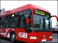 One of London's three fuel-cell buses.