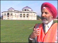 Architect Teja Singh Biring with the temple