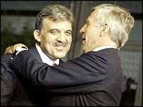 Abdullah Gul and Jack Straw